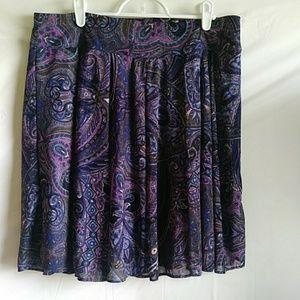 International Conceptions Blue Paisley Print Skirt